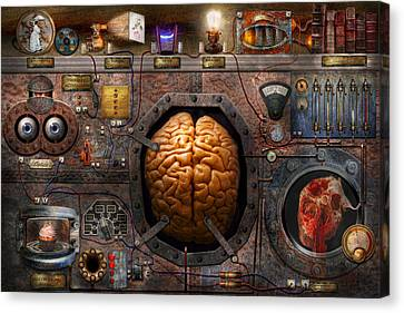 Steampunk - Information Overload Canvas Print by Mike Savad