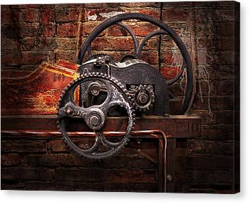 Steampunk - No 10 Canvas Print by Mike Savad