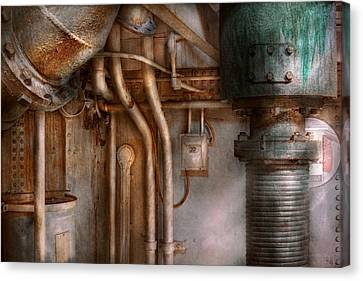 Steampunk - Plumbing - Industrial Abstract  Canvas Print by Mike Savad