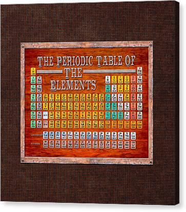 Steampunk Retro Periodic Table Canvas Print by Mark E Tisdale