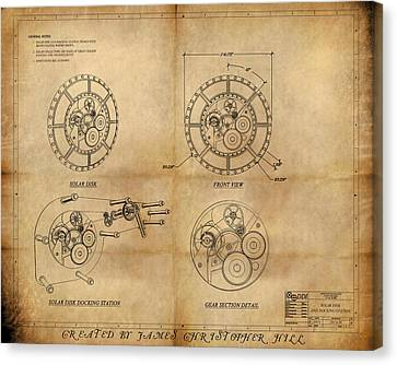Steampunk Solar Disk Canvas Print by James Christopher Hill