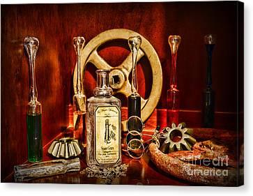 Steampunk - Spare Gears - Mechanical Canvas Print by Paul Ward