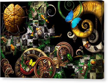 Steampunk - Surreal - Mind Games Canvas Print by Mike Savad