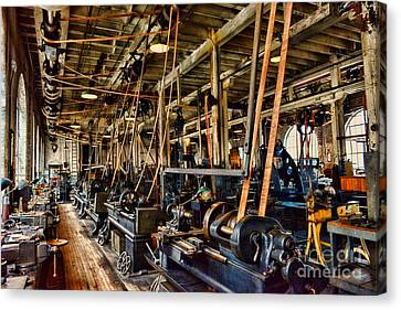 Steampunk - The Age Of Industry Canvas Print by Paul Ward