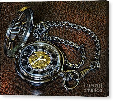 Steampunk - The Pocketwatch Canvas Print by Paul Ward