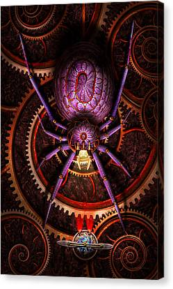 Steampunk - The Webs We Weave Canvas Print by Mike Savad