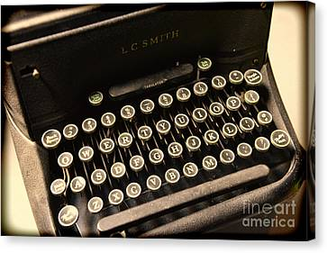Steampunk - Typewriter - The Age Of Industry Canvas Print by Paul Ward