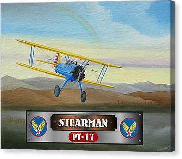 Stearman Pt-17 Canvas Print by Stuart Swartz