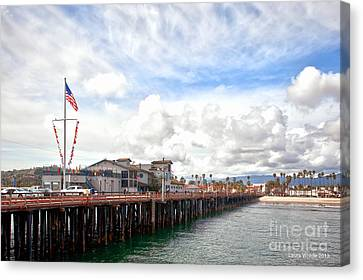 Stearns Wharf Santa Barbara California Canvas Print by Artist and Photographer Laura Wrede