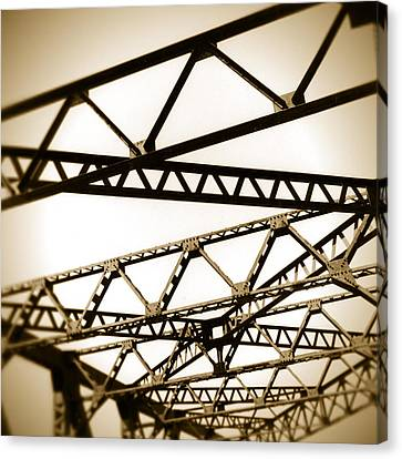 Steel Lines Canvas Print by Timothy Bischoff