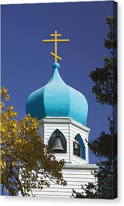 Steeple Of Holy Resurrection Russian Canvas Print by Kevin Smith