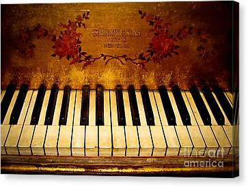Steinway Golden Grand  Canvas Print by Colleen Kammerer