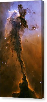 Stellar Spire In The Eagle Nebula Canvas Print by Adam Romanowicz