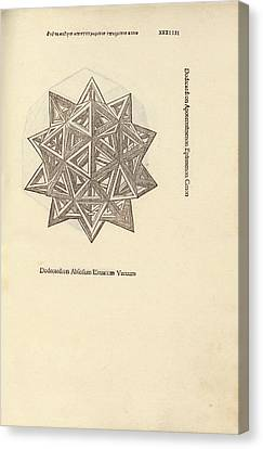Stellated Dodecahedron Canvas Print by Library Of Congress