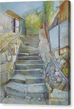 Step By Step Canvas Print by Elena Oleniuc