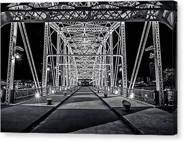Step Under The Steel Canvas Print by CJ Schmit