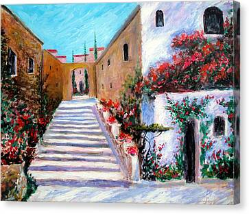 Steps Of Beauty Canvas Print by Larry Cirigliano