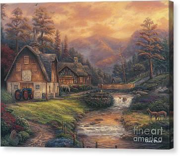 Steps Off The Appalachian Trail Canvas Print by Chuck Pinson