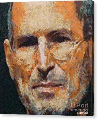 Steve Jobs Canvas Print by Dragica  Micki Fortuna