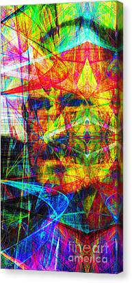 Steve Jobs Ghost In The Machine 20130618 Long Canvas Print by Wingsdomain Art and Photography