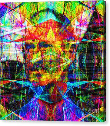 Steve Jobs Ghost In The Machine 20130618 Square Canvas Print by Wingsdomain Art and Photography