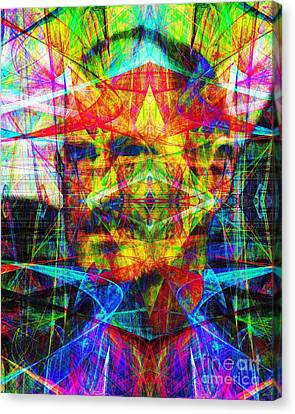 Steve Jobs Ghost In The Machine 20130618 Canvas Print by Wingsdomain Art and Photography