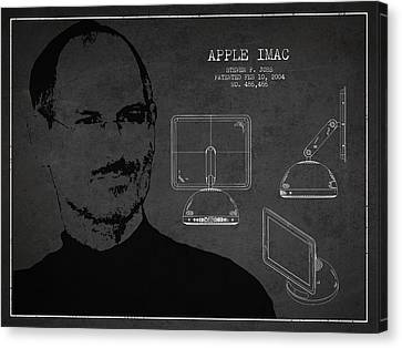 Steve Jobs Imac  Patent - Dark Canvas Print by Aged Pixel