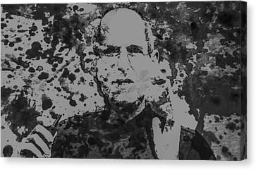 Steve Jobs Paint Splatter 3b Canvas Print by Brian Reaves