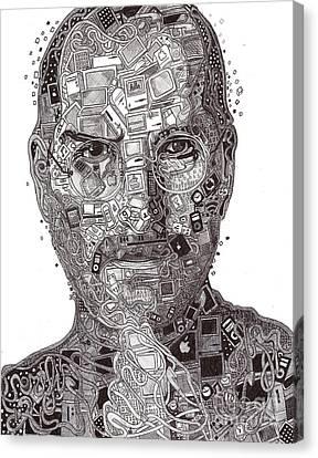 Steve Jobs Canvas Print by Serafin Ureno
