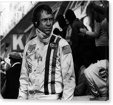 Steve Mcqueen In Racing Gear Canvas Print by Retro Images Archive