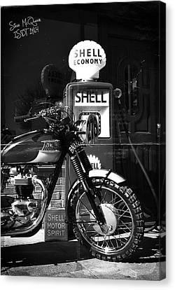 Steve Mcqueen Isdt 64 Canvas Print by Mark Rogan