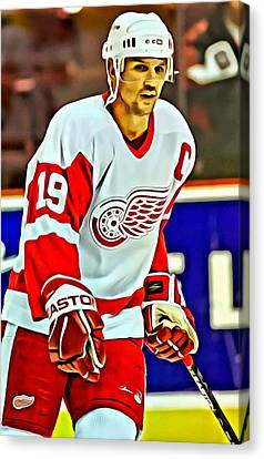 Steve Yzerman Canvas Print by Florian Rodarte