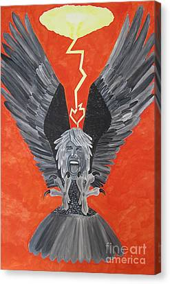 Steven Tyler As An Eagle Canvas Print by Jeepee Aero