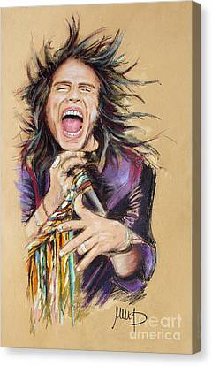 Steven Tyler Canvas Print by Melanie D