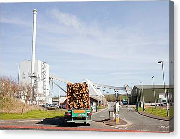 Steven's Croft Biofuel Power Station Canvas Print by Ashley Cooper