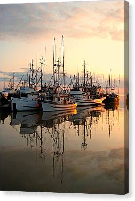 Steveston Harbour Canvas Print by Shirley Sirois