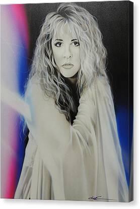 'stevie Nicks' Canvas Print by Christian Chapman Art