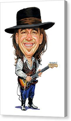 Stevie Ray Vaughan Canvas Print by Art