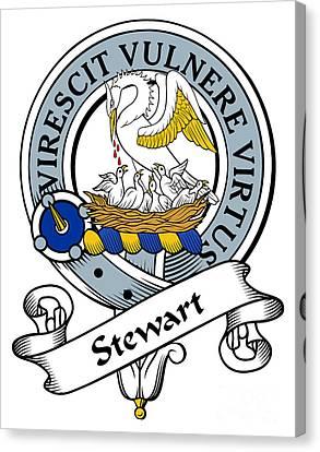 Stewart Clan Badge Canvas Print by Heraldry
