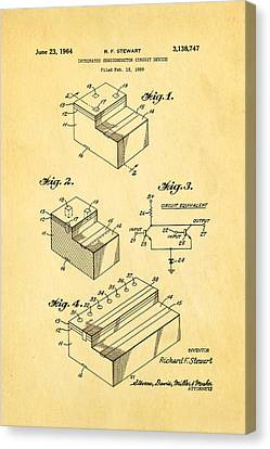 Stewart Integrated Circuit Patent Art 1964 Canvas Print by Ian Monk