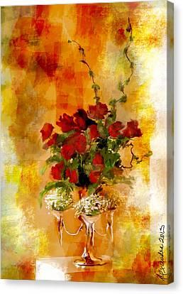 Still Life For Sir Uvedale Price   Canvas Print by Alexandra Jordankova
