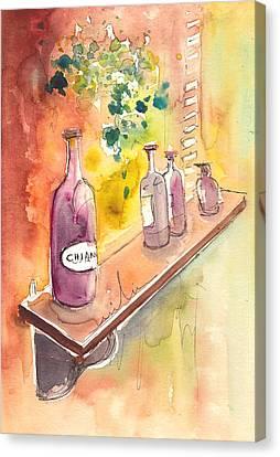 Still Life In Chianti In Italy Canvas Print by Miki De Goodaboom