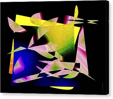 Still Life In Geometric Art Canvas Print by Mario Perez