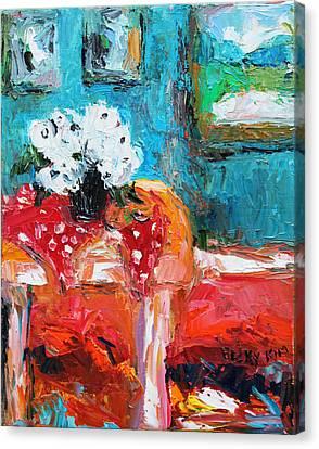 Still Life In Studio 3 Canvas Print by Becky Kim