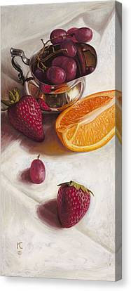 Still Life Reflections Canvas Print by Ron Crabb