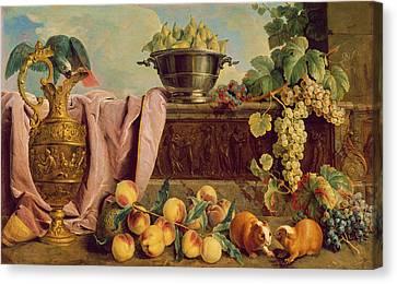 Still Life With A Jug, 1734 Oil On Canvas Canvas Print by Alexandre-Francois Desportes