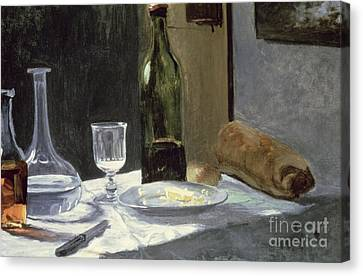 Still Life With Bottles Canvas Print by Claude Monet