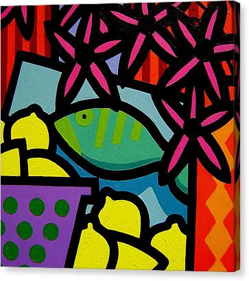 Still Life With Fish Canvas Print by John  Nolan