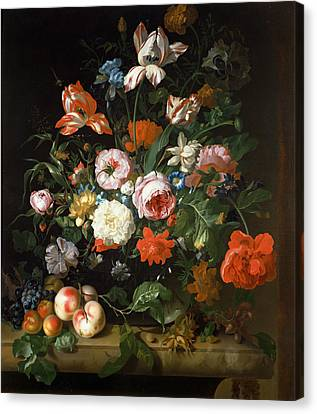 Still Life With Flowers  Canvas Print by Rachel Ruysch