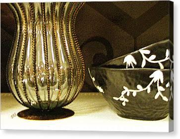 Still Life With Golden Vase Canvas Print by Ben and Raisa Gertsberg
